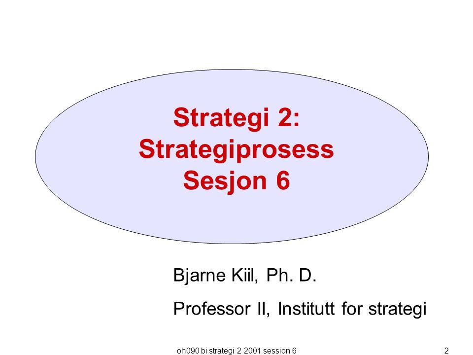 Strategi 2: Strategiprosess Sesjon 6
