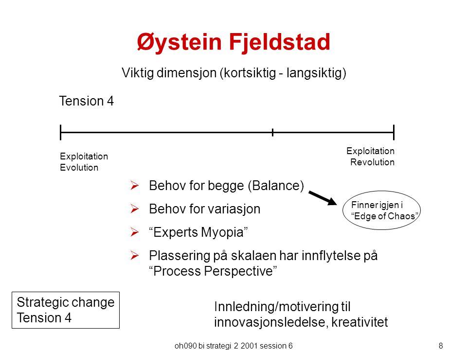 Øystein Fjeldstad Viktig dimensjon (kortsiktig - langsiktig) Tension 4