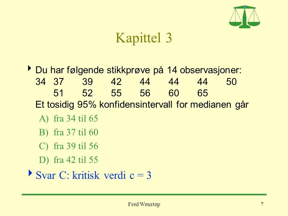 Kapittel 3 Svar C: kritisk verdi c = 3