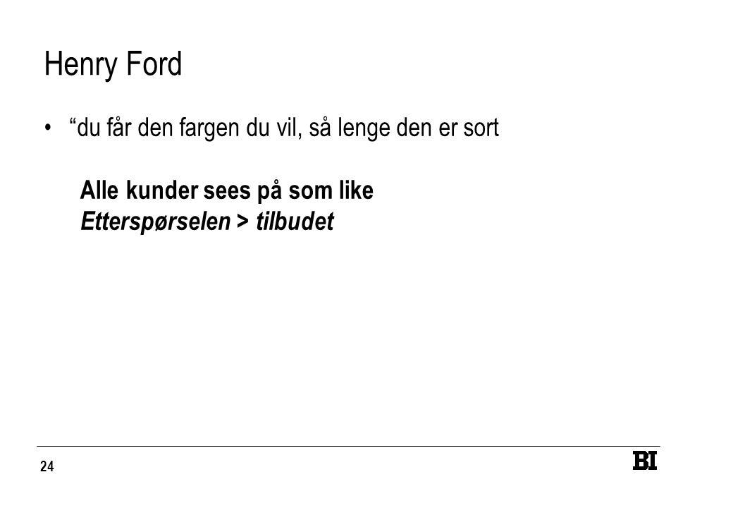 Henry Ford du får den fargen du vil, så lenge den er sort