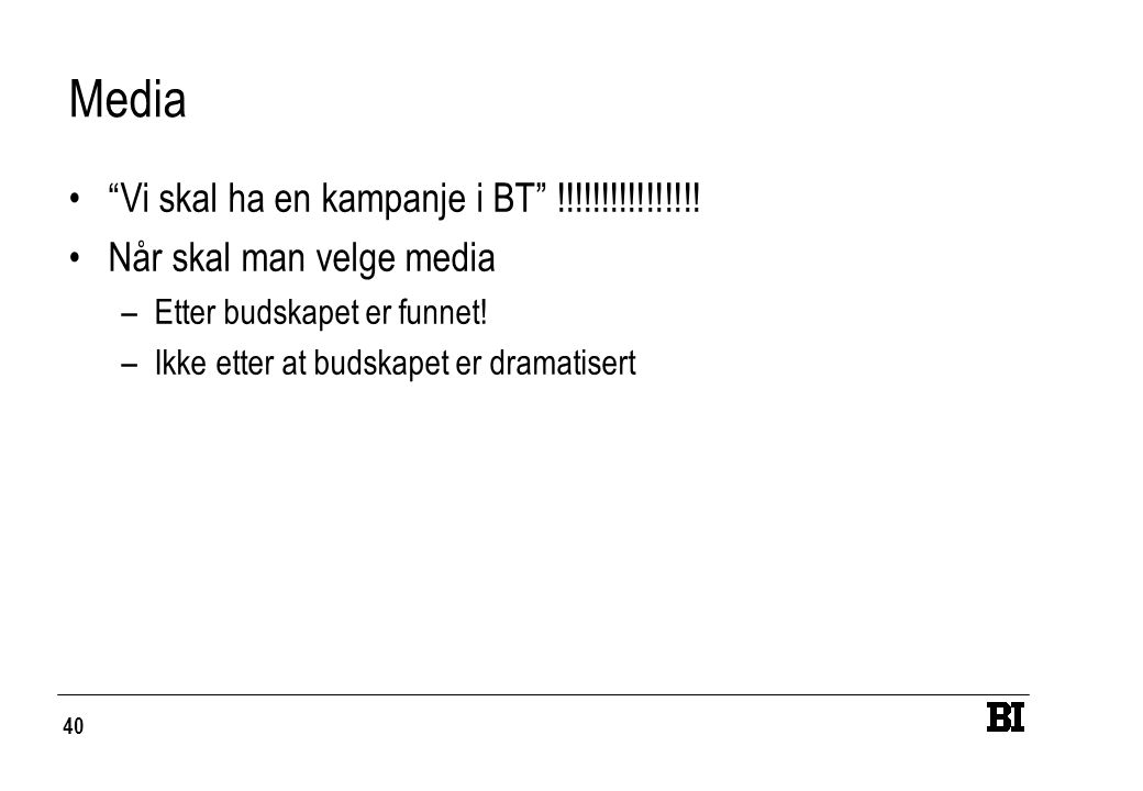 Media Vi skal ha en kampanje i BT !!!!!!!!!!!!!!!!