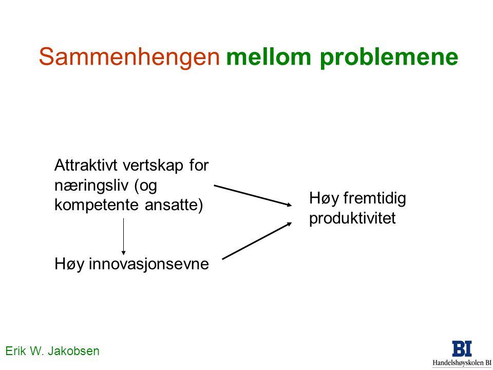 Sammenhengen mellom problemene