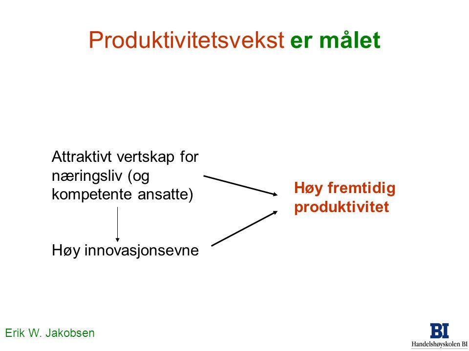 Produktivitetsvekst er målet