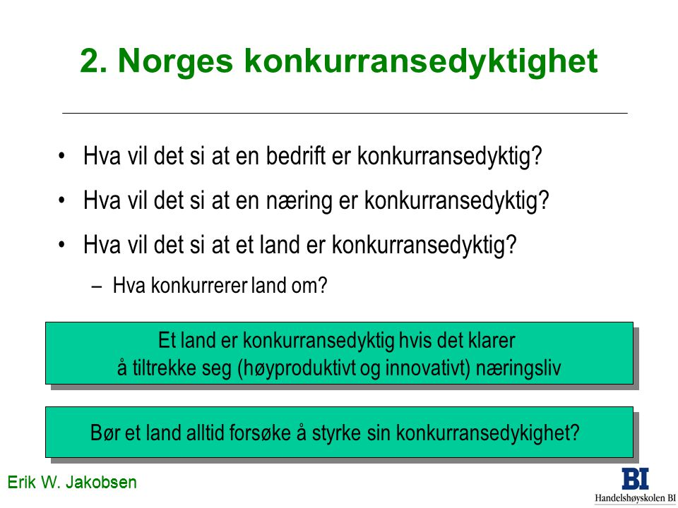 2. Norges konkurransedyktighet