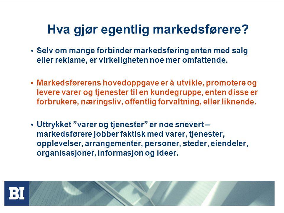 Hva gjør egentlig markedsførere
