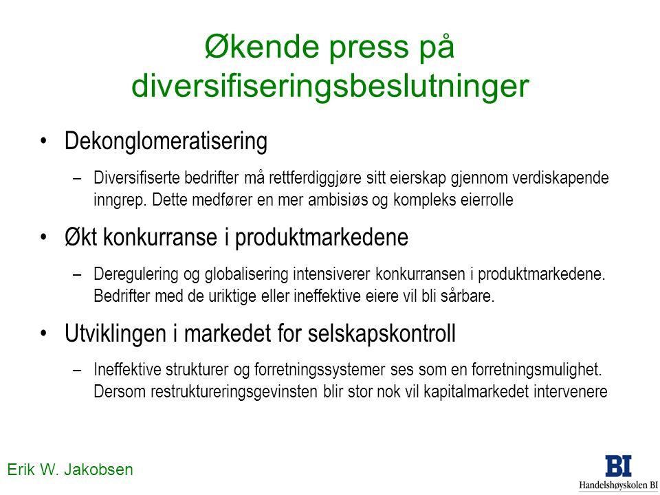 Økende press på diversifiseringsbeslutninger