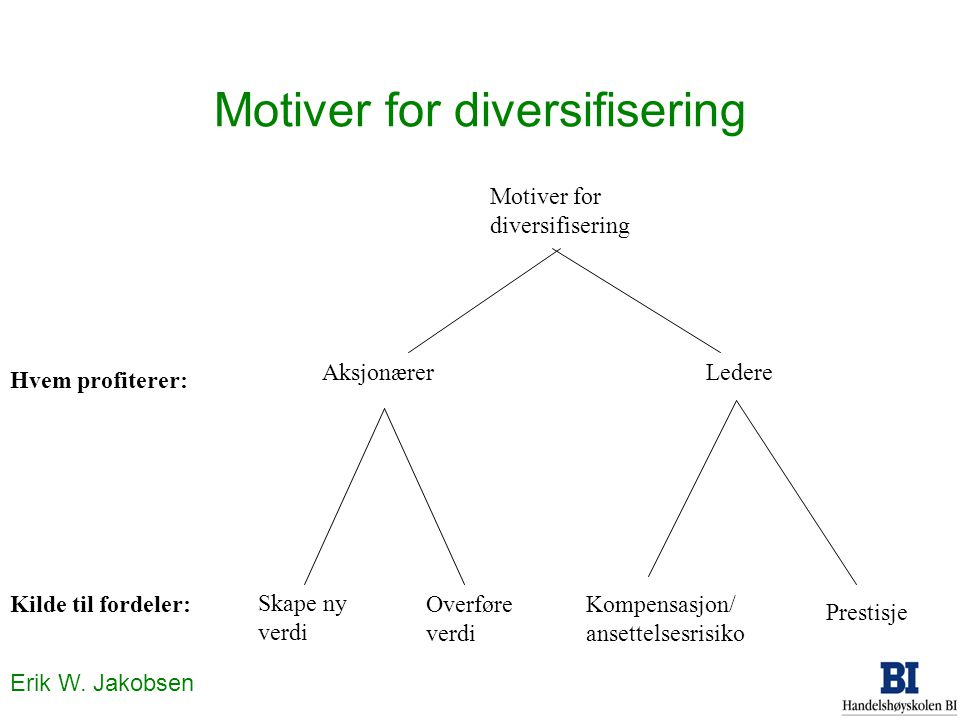 Motiver for diversifisering