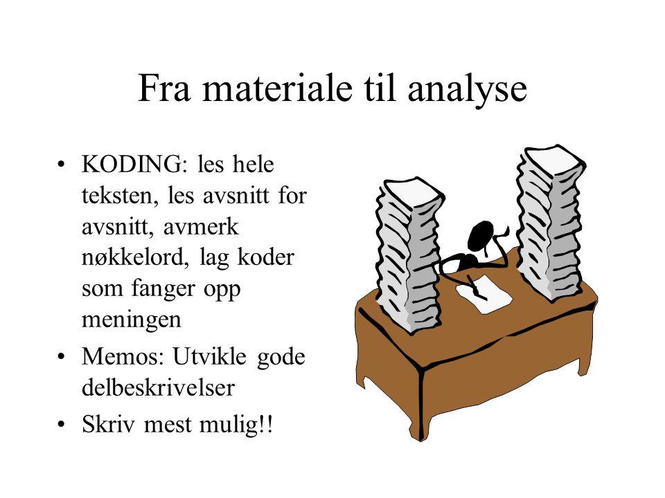 Fra materiale til analyse