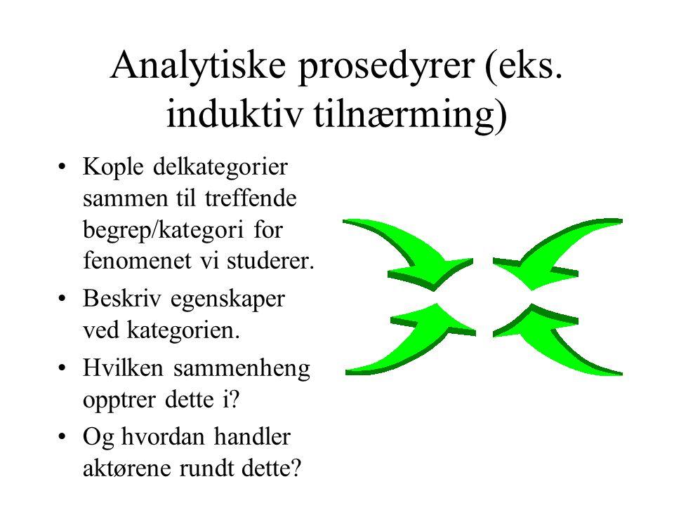 Analytiske prosedyrer (eks. induktiv tilnærming)
