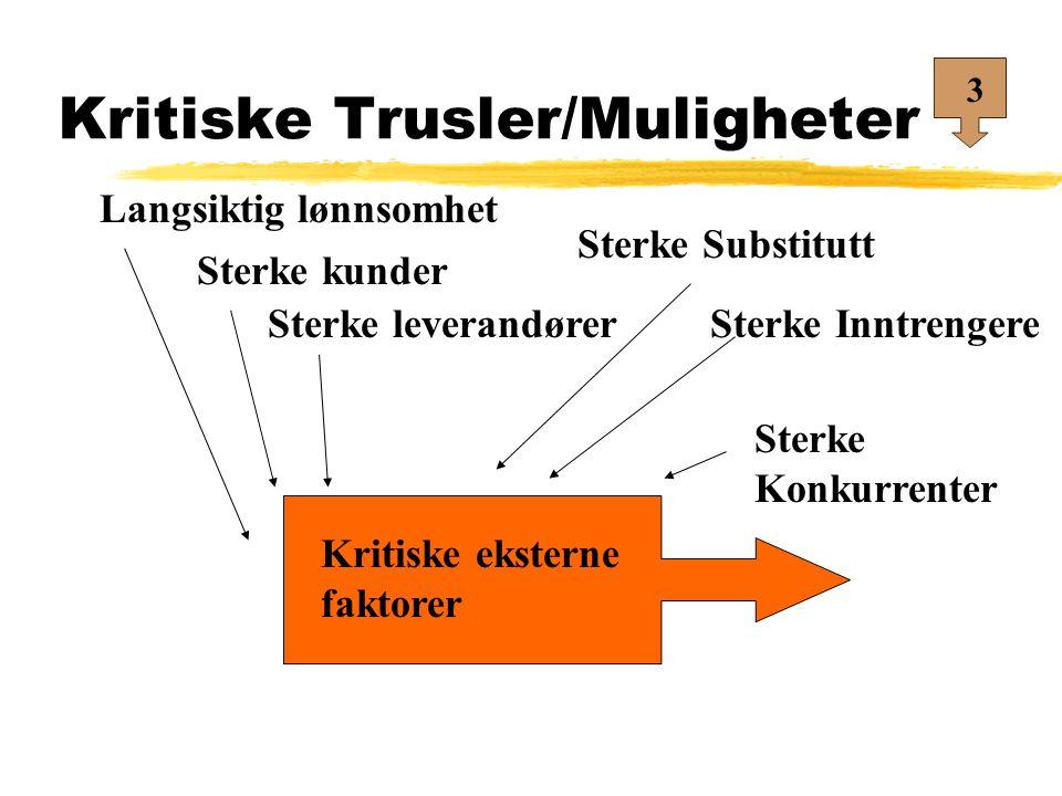 Kritiske Trusler/Muligheter