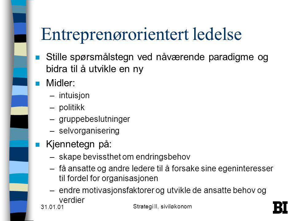 Entreprenørorientert ledelse