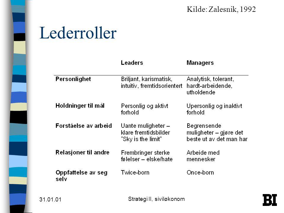 Strategi II, siviløkonom