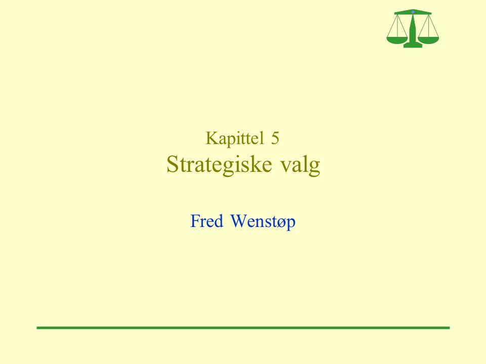 Kapittel 5 Strategiske valg