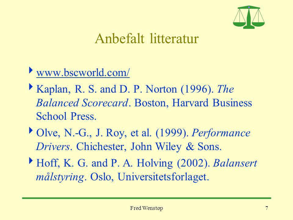 Anbefalt litteratur www.bscworld.com/