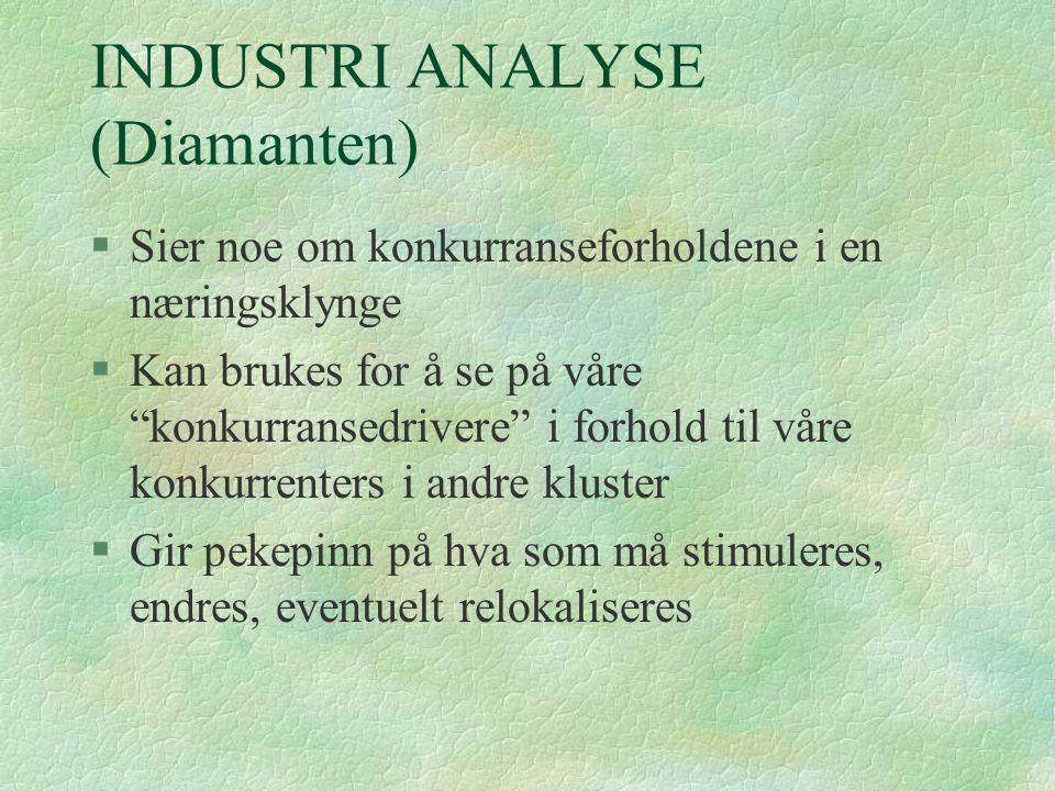 INDUSTRI ANALYSE (Diamanten)