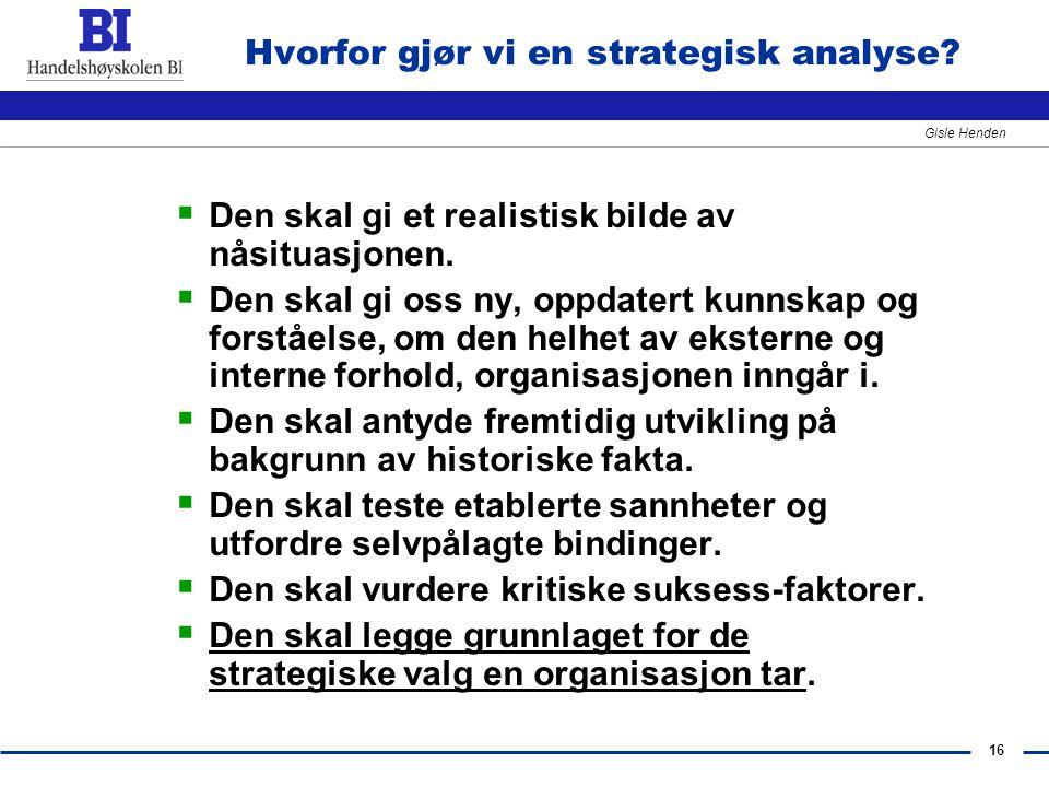 Hvorfor gjør vi en strategisk analyse