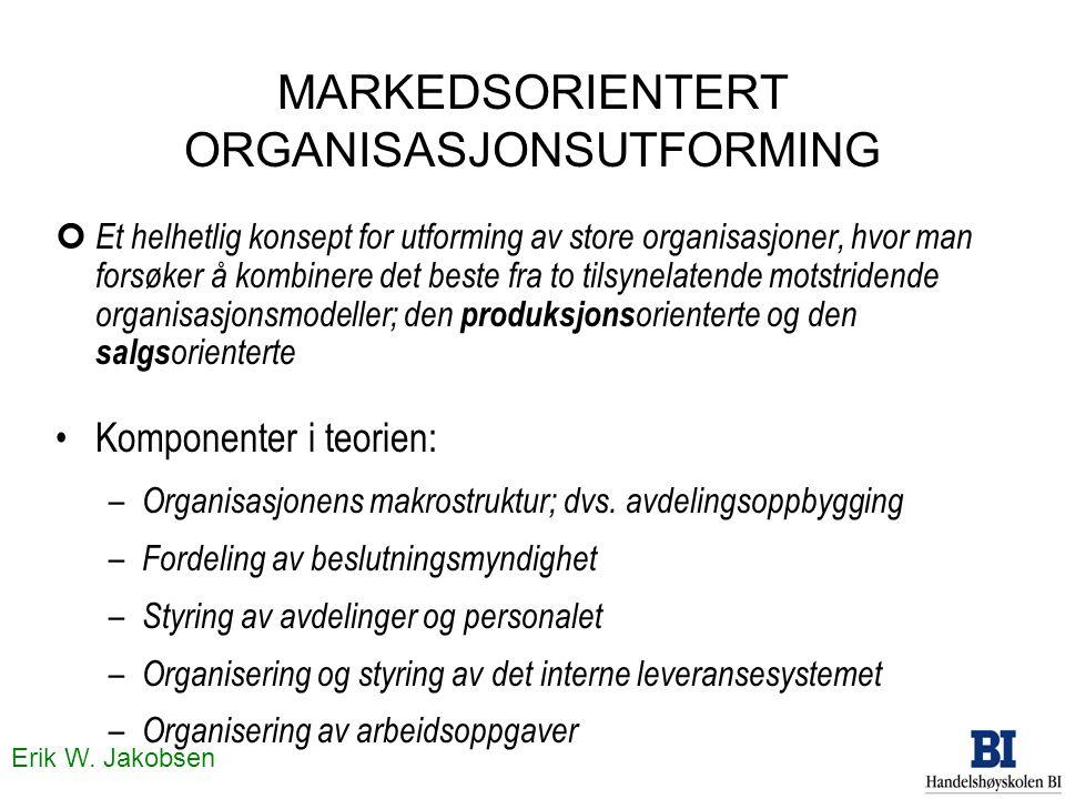 MARKEDSORIENTERT ORGANISASJONSUTFORMING