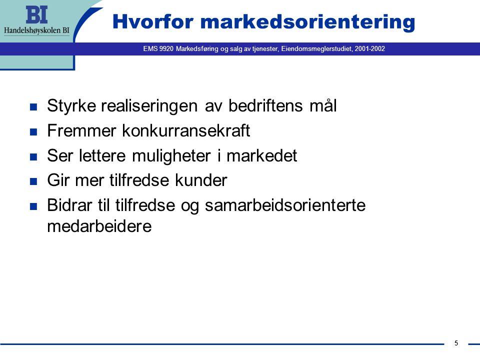 Hvorfor markedsorientering