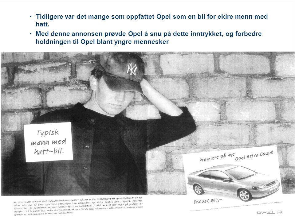 Tidligere var det mange som oppfattet Opel som en bil for eldre menn med hatt.
