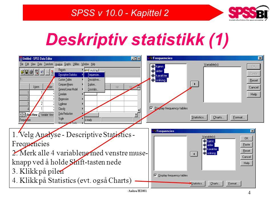Deskriptiv statistikk (1)