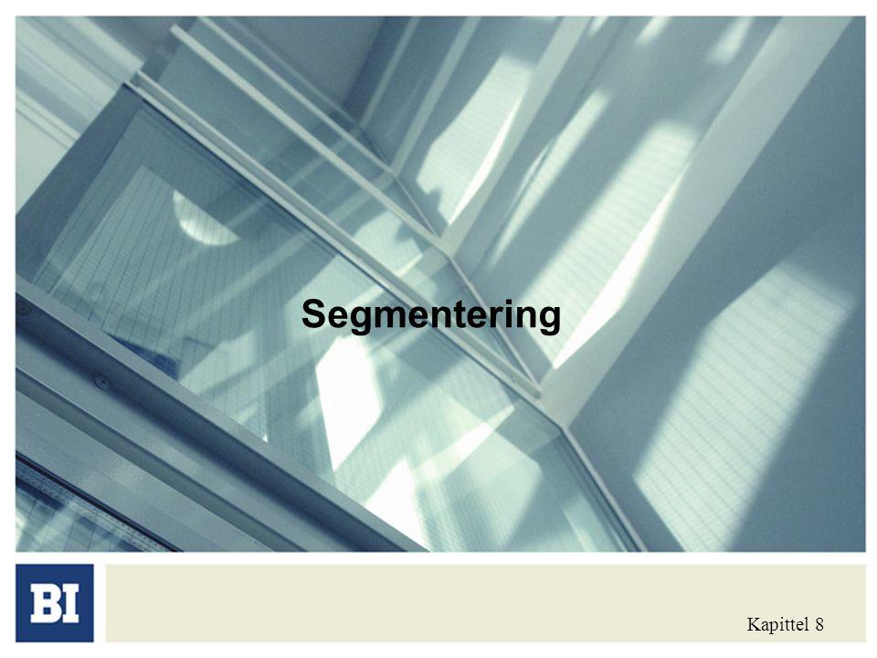 Segmentering Kapittel 8
