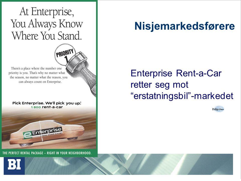Nisjemarkedsførere Enterprise Rent-a-Car retter seg mot