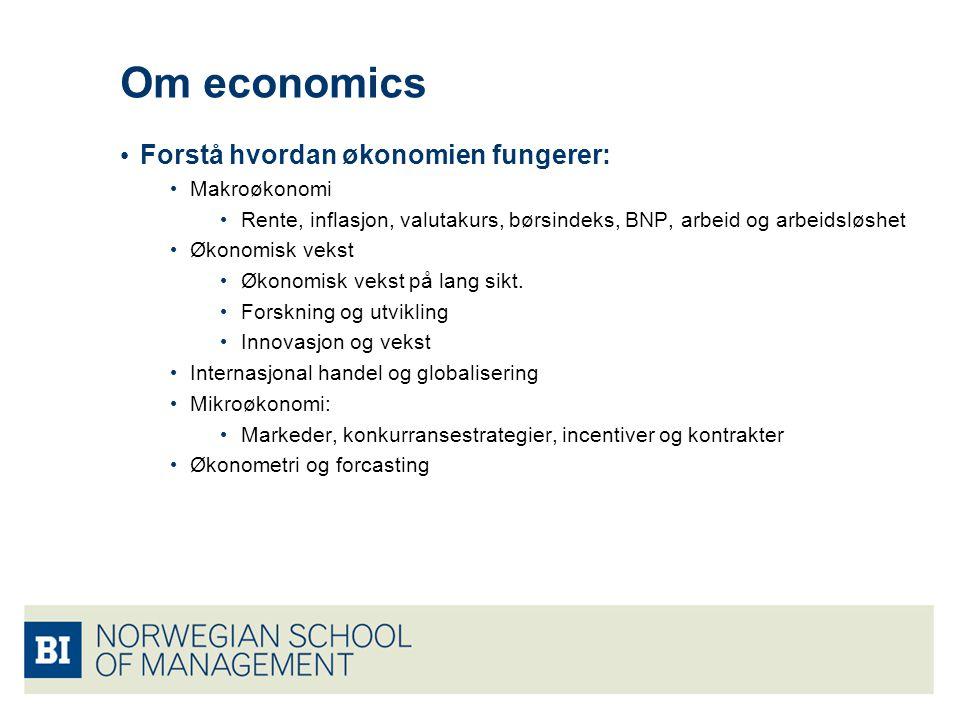 Om economics Forstå hvordan økonomien fungerer: Makroøkonomi