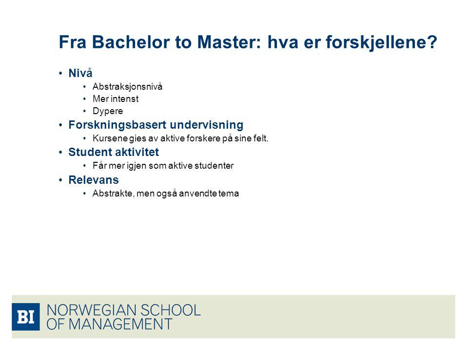 Fra Bachelor to Master: hva er forskjellene