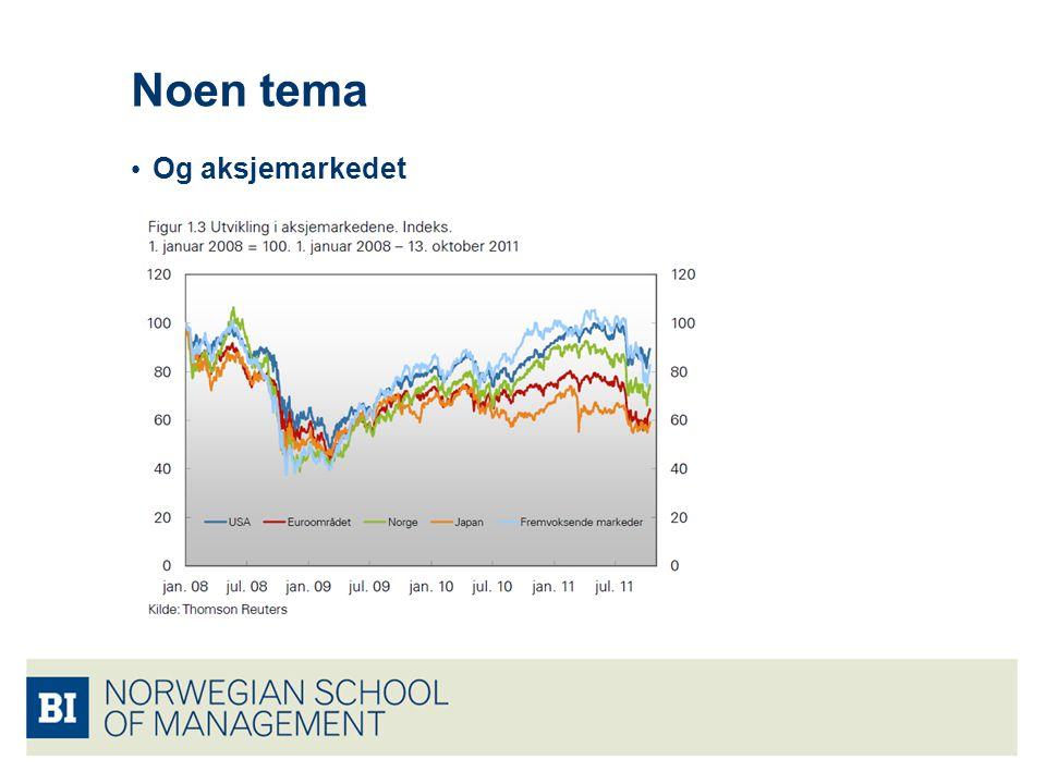 Noen tema Og aksjemarkedet