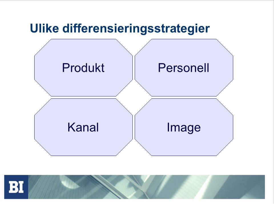 Ulike differensieringsstrategier