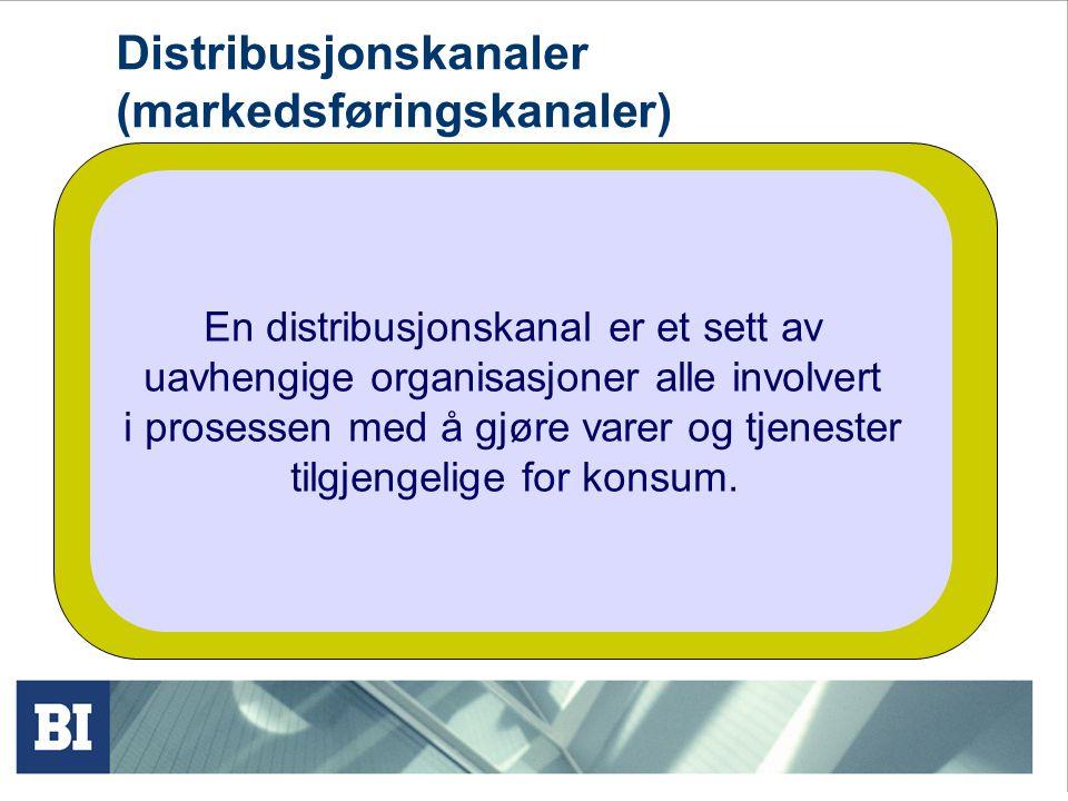 Distribusjonskanaler (markedsføringskanaler)