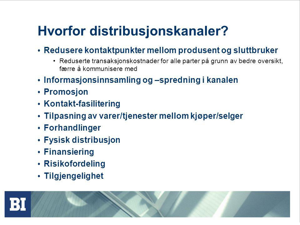 Hvorfor distribusjonskanaler