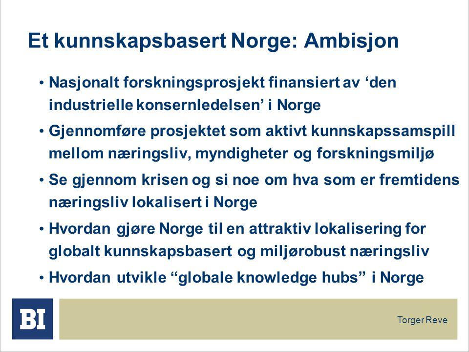 Et kunnskapsbasert Norge: Ambisjon