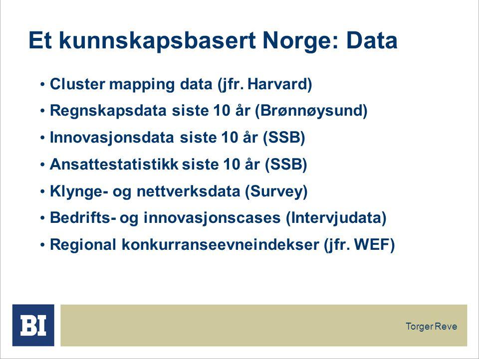 Et kunnskapsbasert Norge: Data