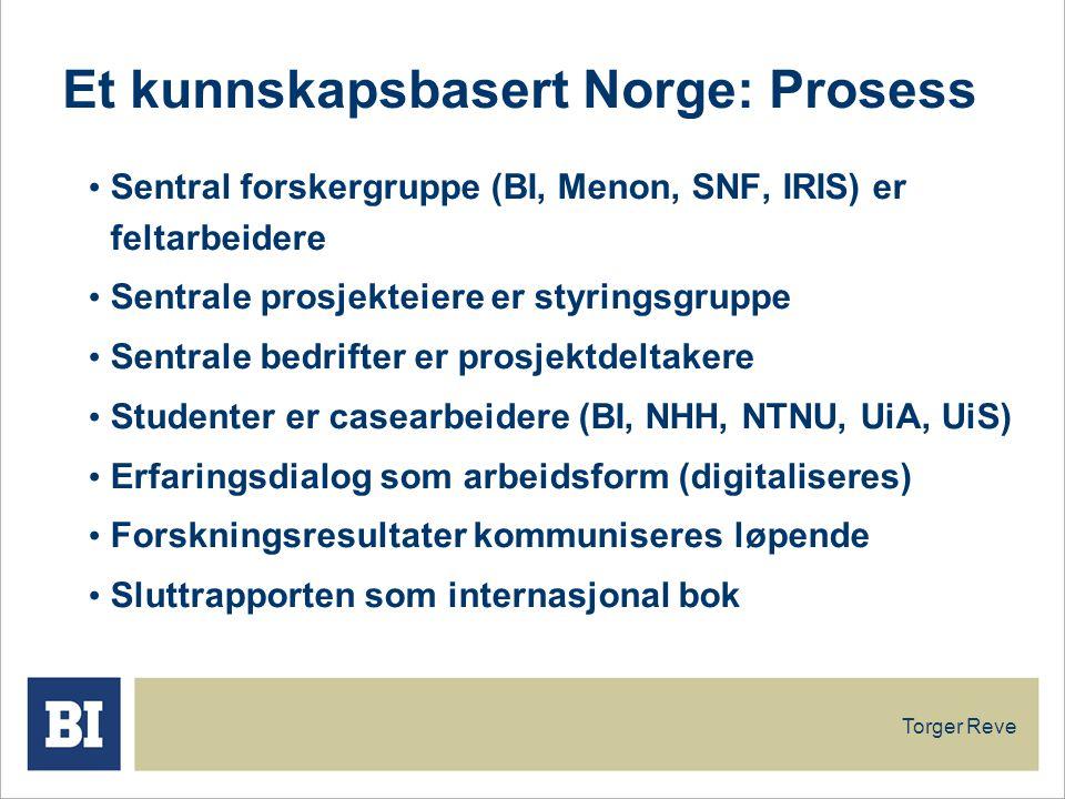 Et kunnskapsbasert Norge: Prosess