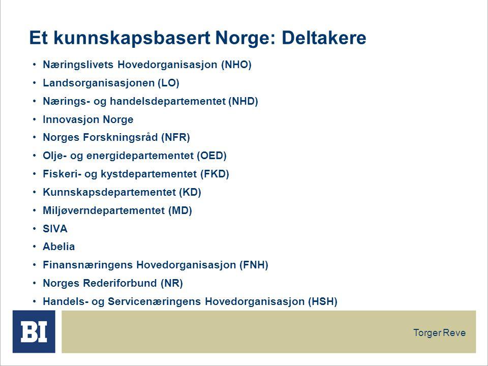 Et kunnskapsbasert Norge: Deltakere