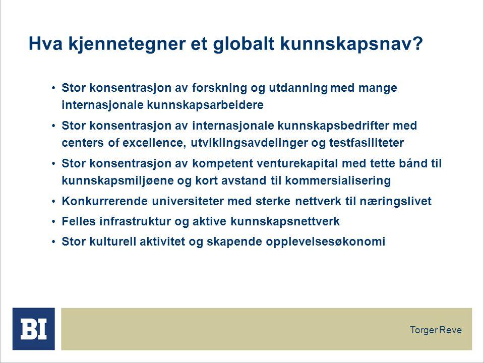 Hva kjennetegner et globalt kunnskapsnav