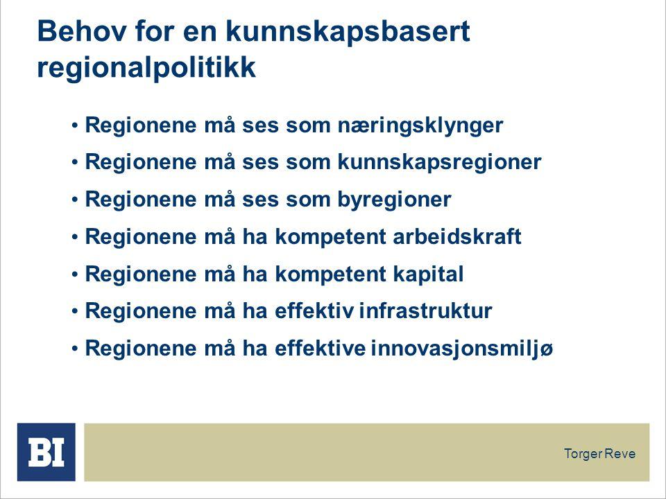 Behov for en kunnskapsbasert regionalpolitikk