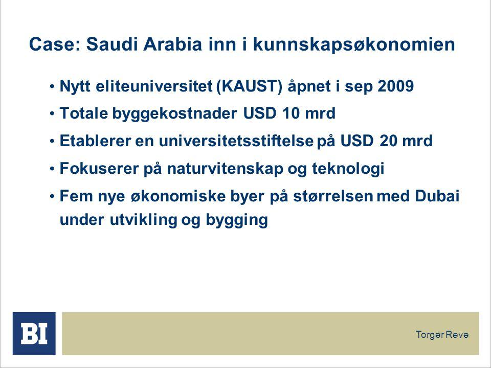 Case: Saudi Arabia inn i kunnskapsøkonomien