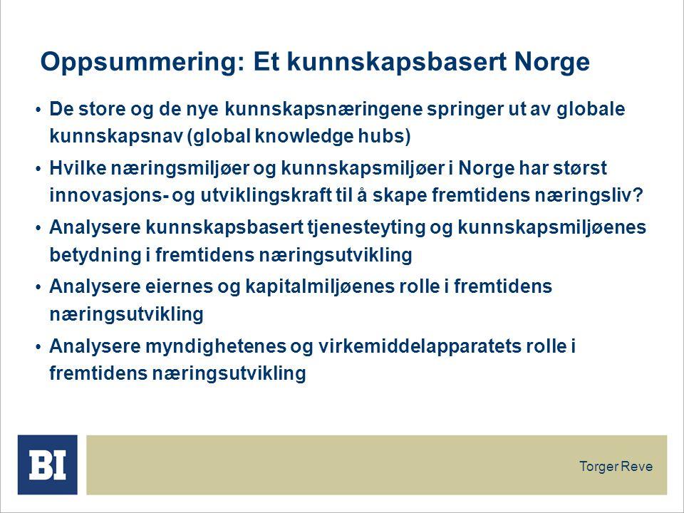 Oppsummering: Et kunnskapsbasert Norge