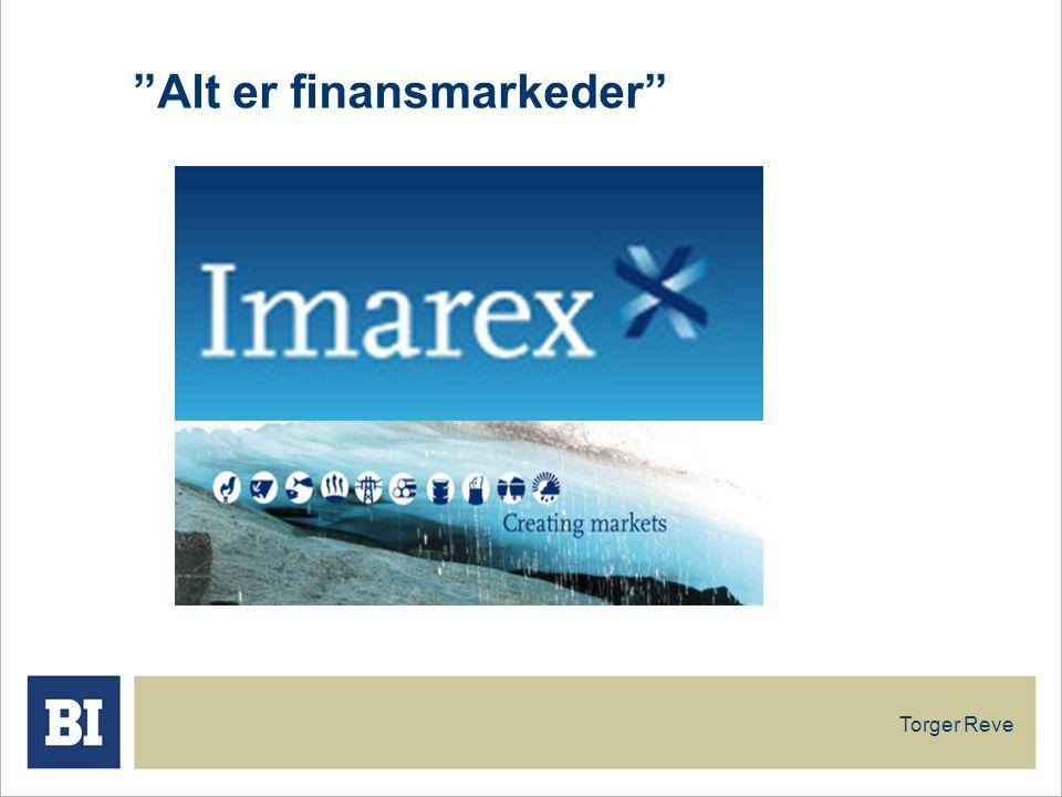 Alt er finansmarkeder