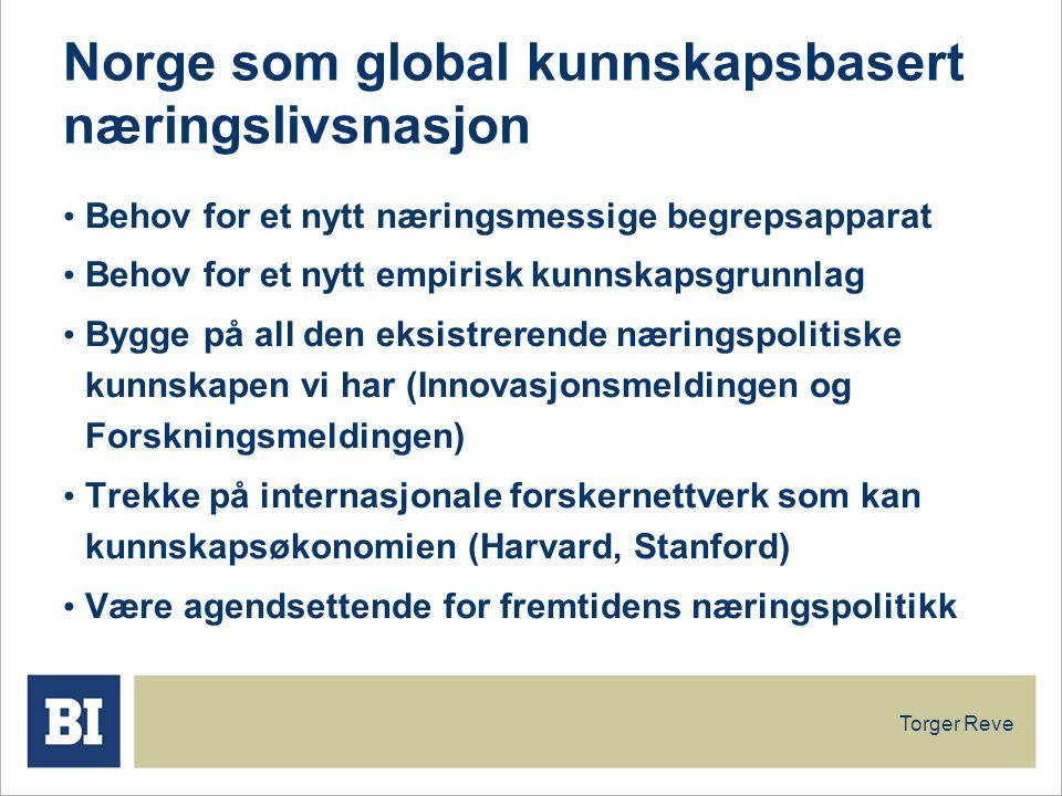 Norge som global kunnskapsbasert næringslivsnasjon