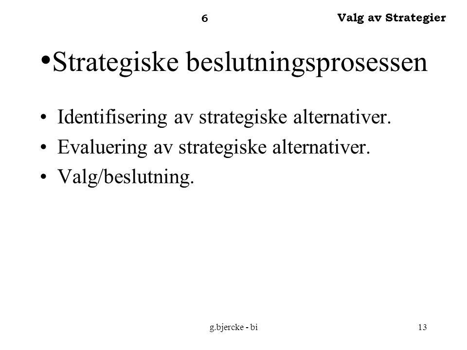 Strategiske beslutningsprosessen