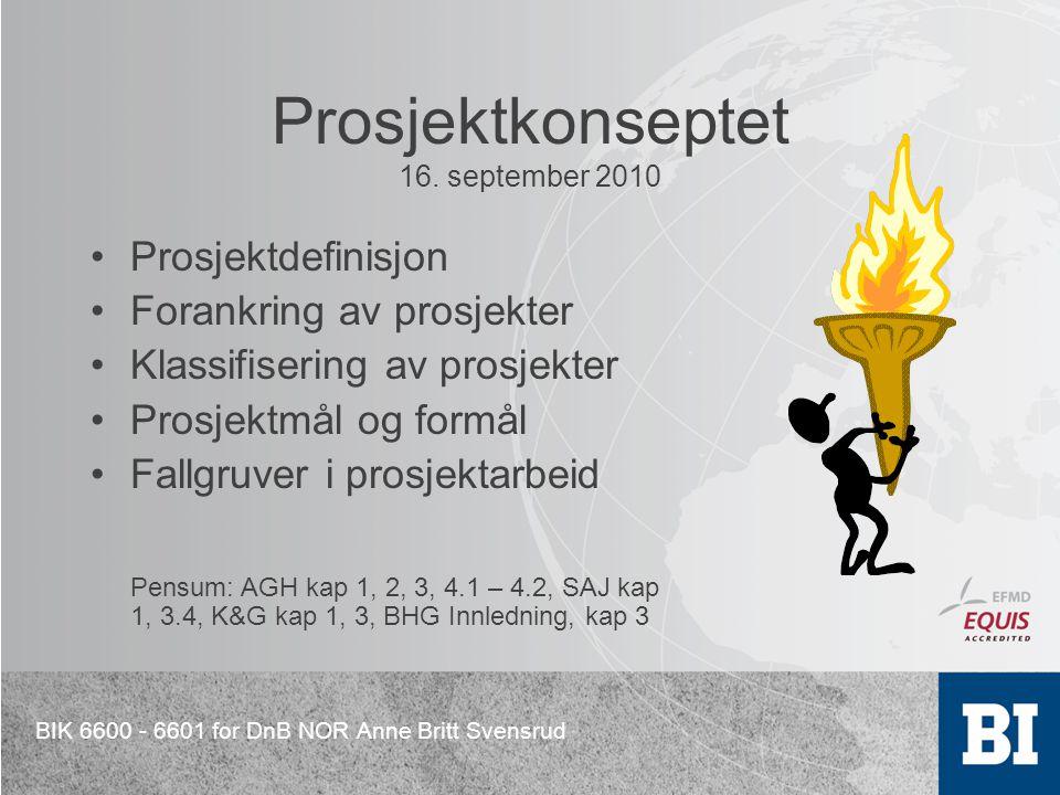 Prosjektkonseptet 16. september 2010