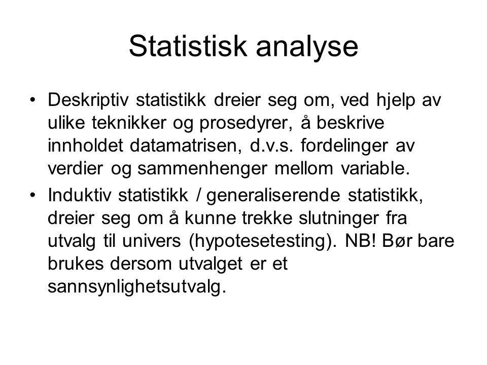 Statistisk analyse