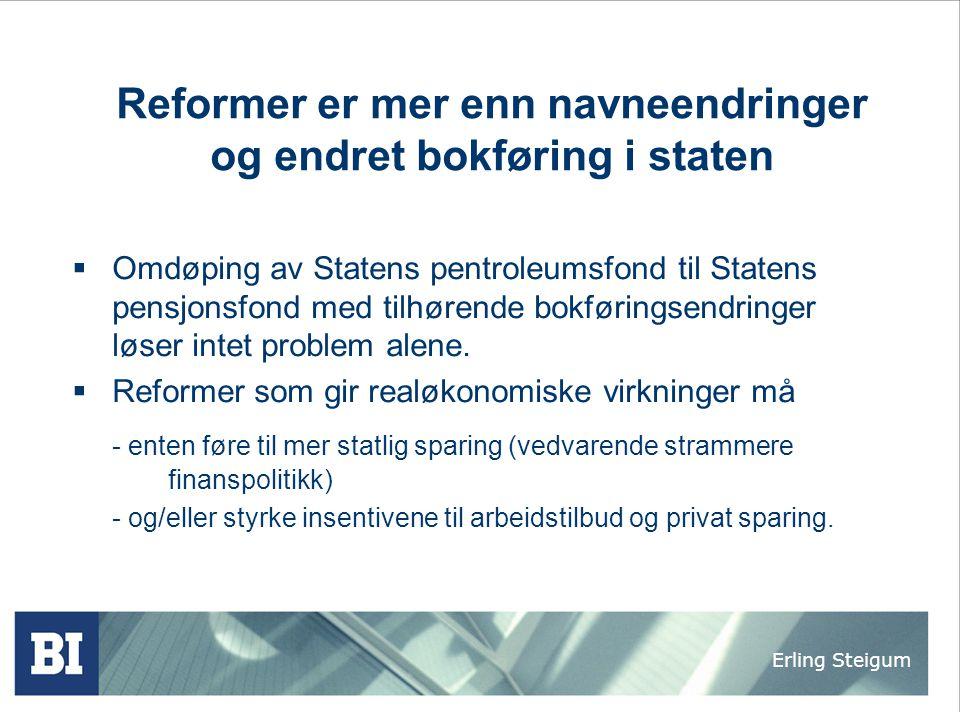 Reformer er mer enn navneendringer og endret bokføring i staten