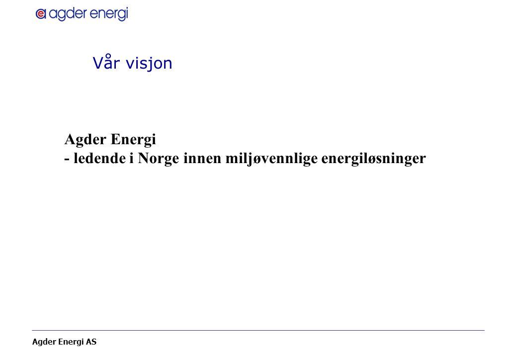Vår visjon Agder Energi - ledende i Norge innen miljøvennlige energiløsninger