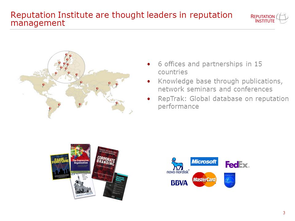 Reputation Institute are thought leaders in reputation management