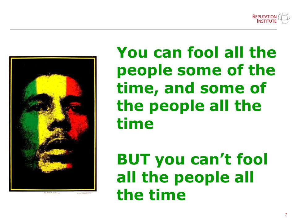 You can fool all the people some of the time, and some of the people all the time