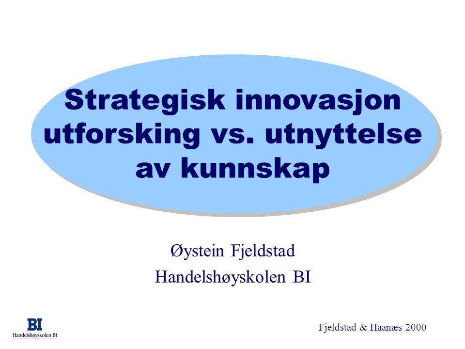 Strategisk innovasjon utforsking vs. utnyttelse av kunnskap